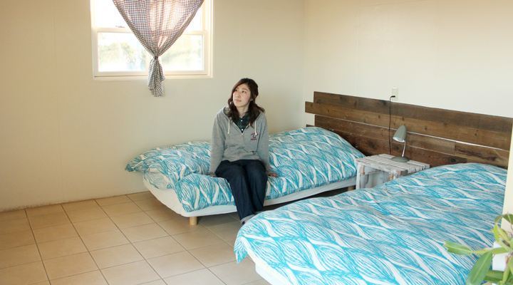 ベッドが並んでいる写真