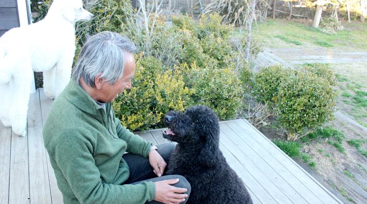 オーナーと愛犬の写真